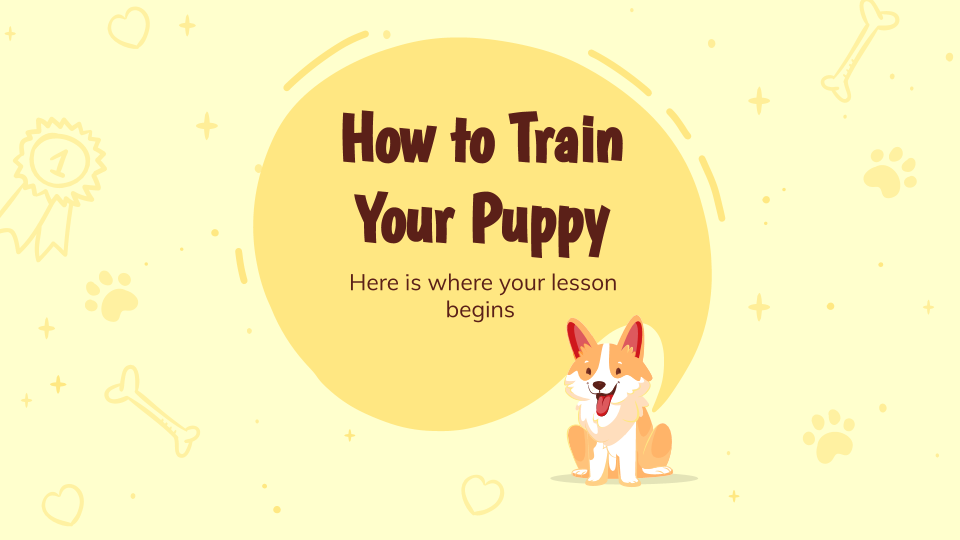 How to Train Your Puppy presentation template