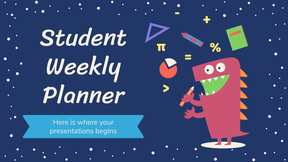 Student Weekly Planner presentation template