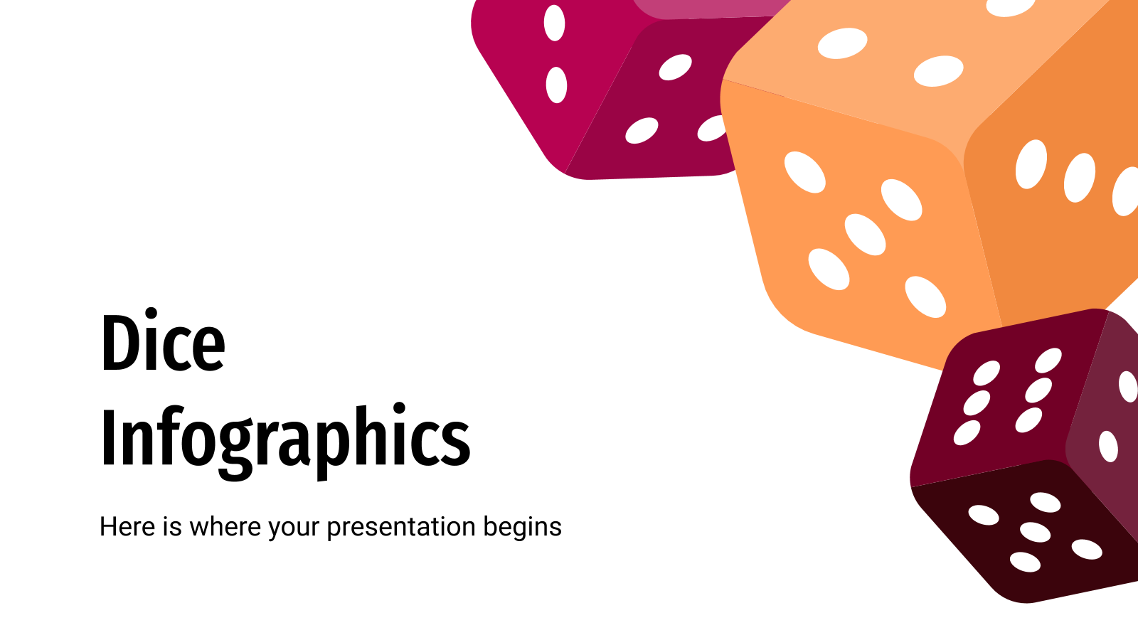 Dice Infographics presentation template