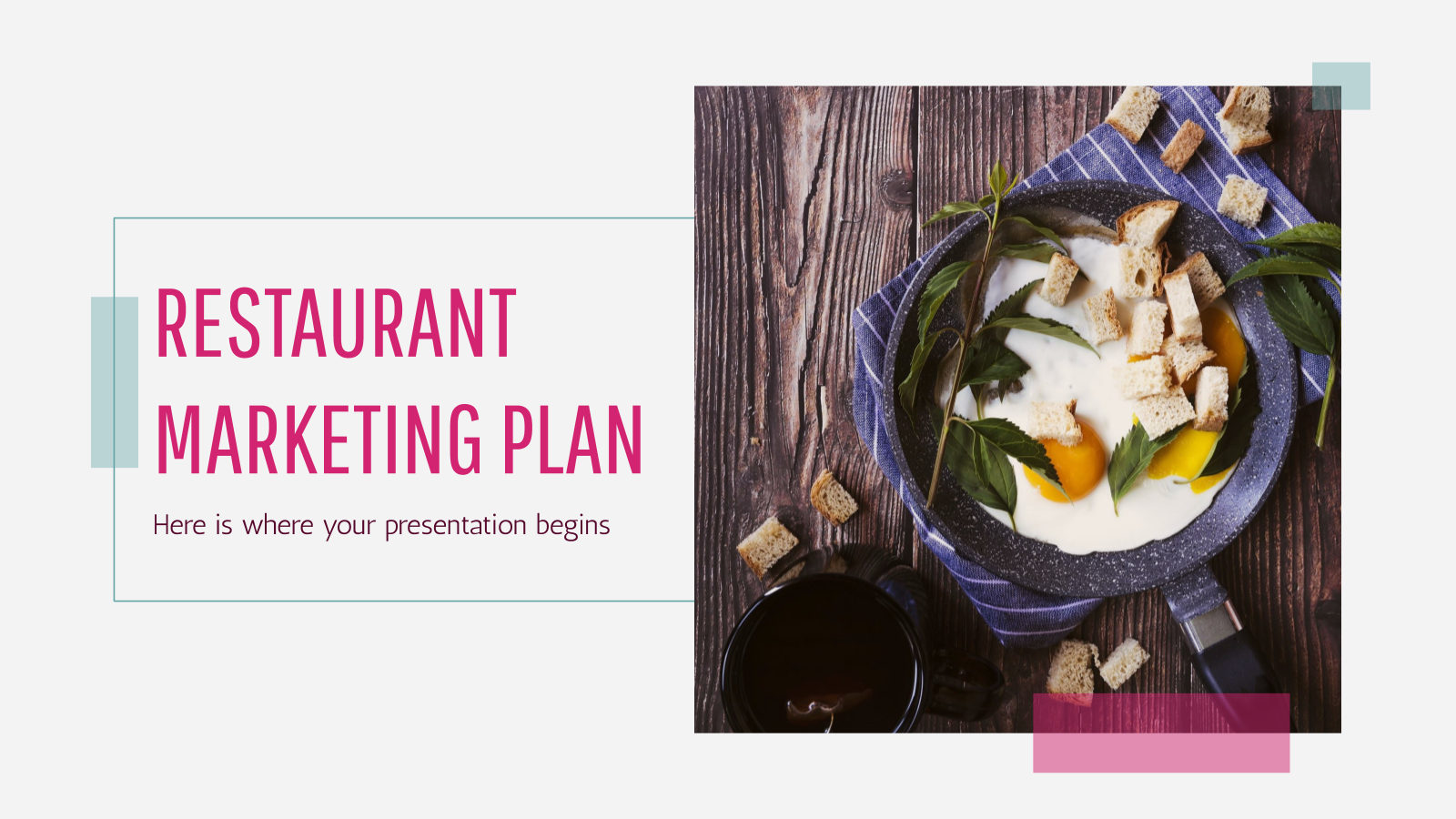 Restaurant Marketing Plan presentation template