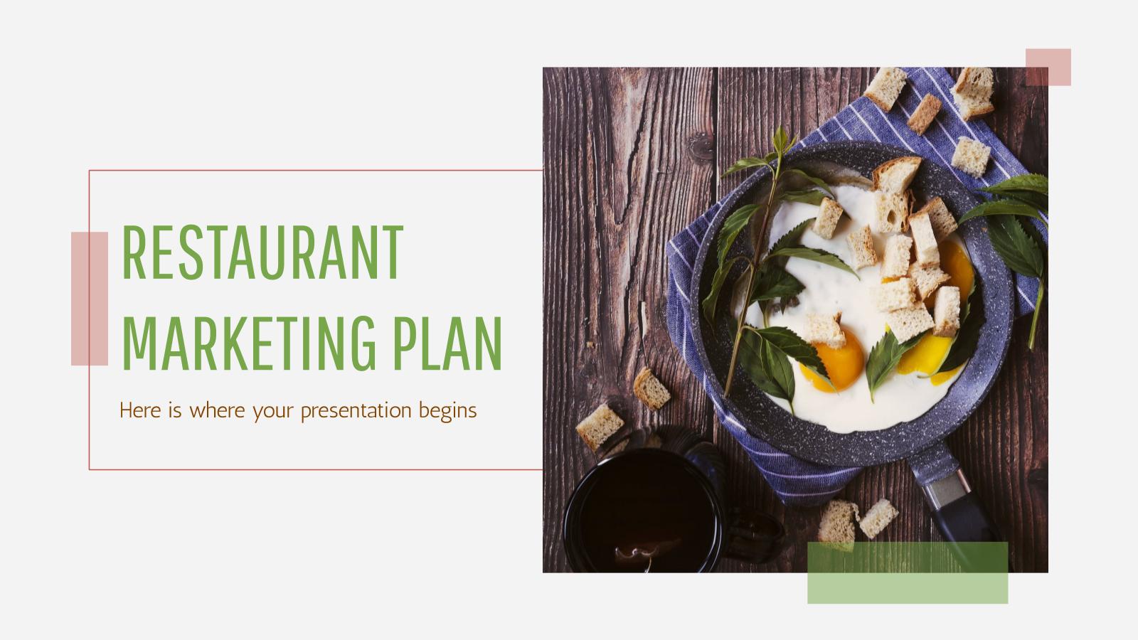 Restaurant Marketing Plan presentation template