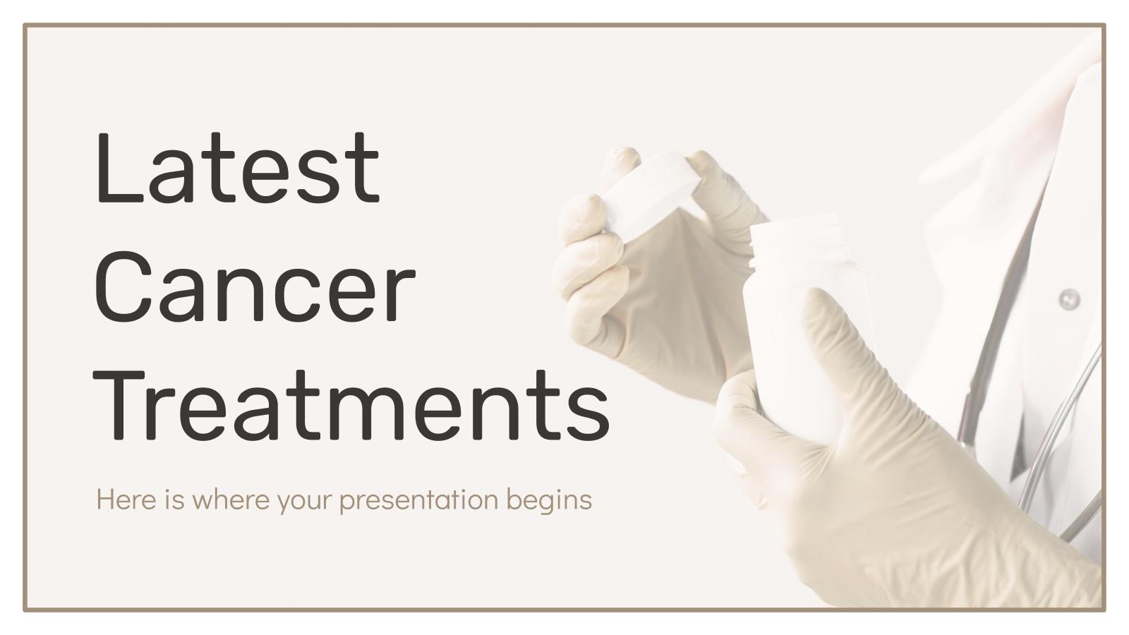 Modelo de apresentação Descobertas no tratamento do câncer