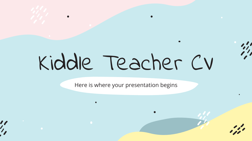 Kiddle Teacher CV presentation template