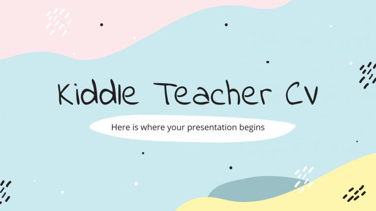 Modelo de apresentação CV de docente Kiddle