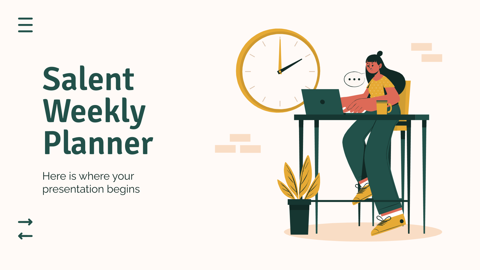 Salent Weekly Planner presentation template