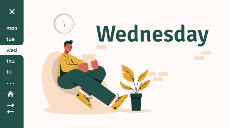 Plantilla de presentación Agenda semanal Salent