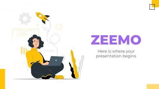 Plantilla de presentación Zeemo