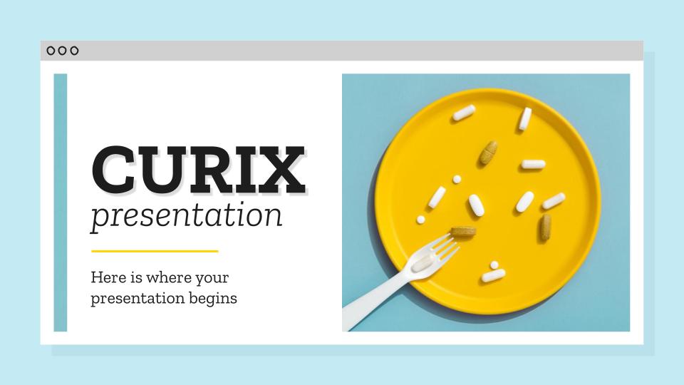 Plantilla de presentación Curix