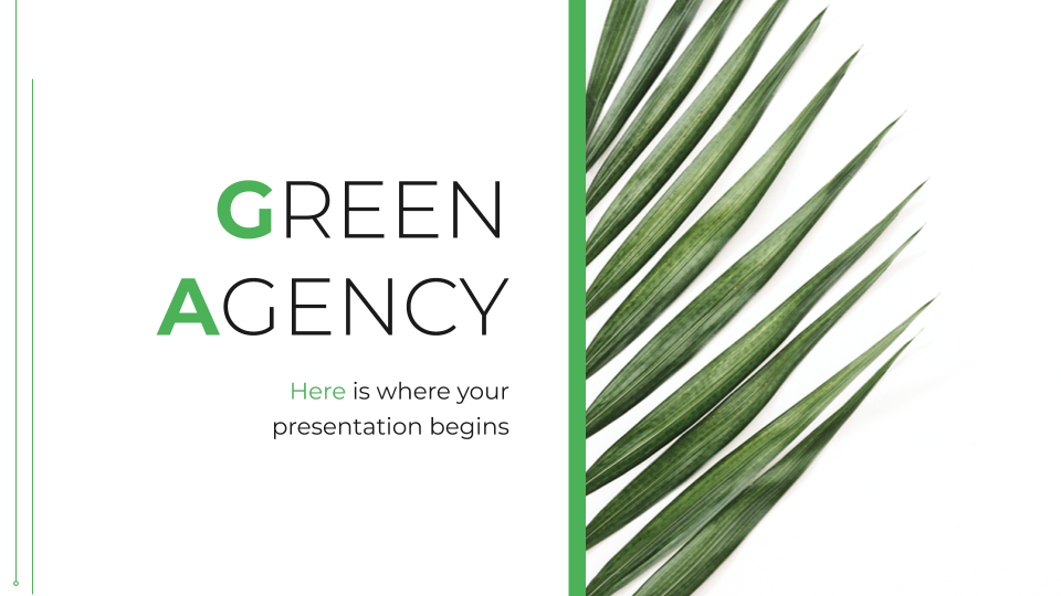 Green Agency presentation template