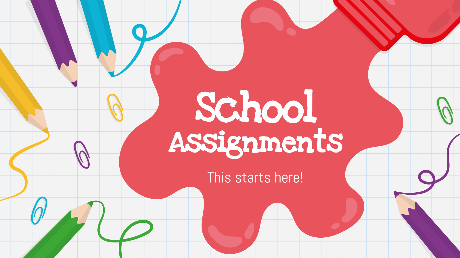 School Assignments presentation template