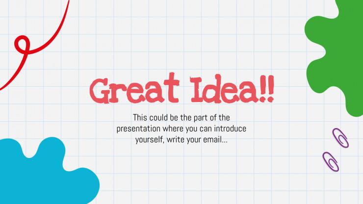 Plantilla de presentación Deberes para clase