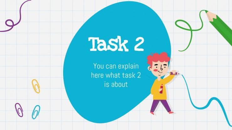 School Assignments presentation template