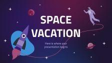 Plantilla de presentación Vacaciones espaciales