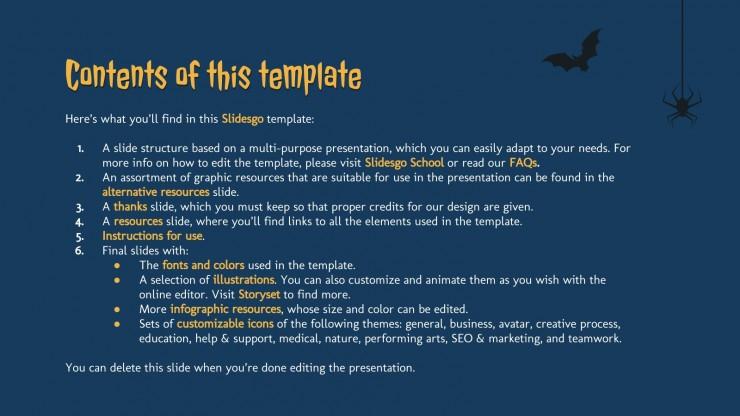 Spooky Halloween presentation template