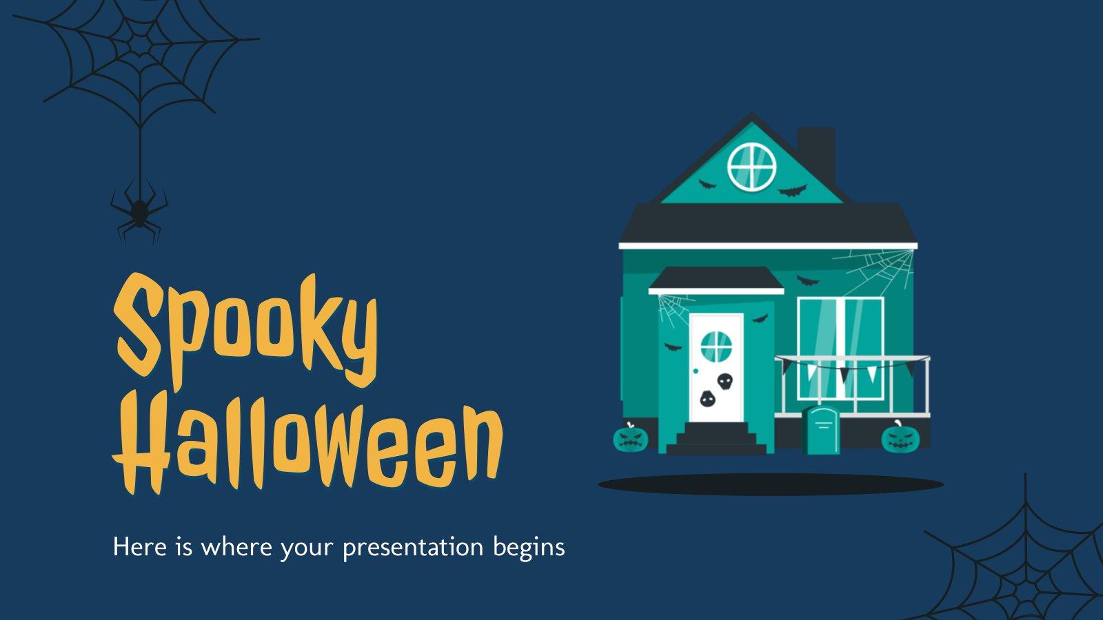 Modelo de apresentação Halloween assustador