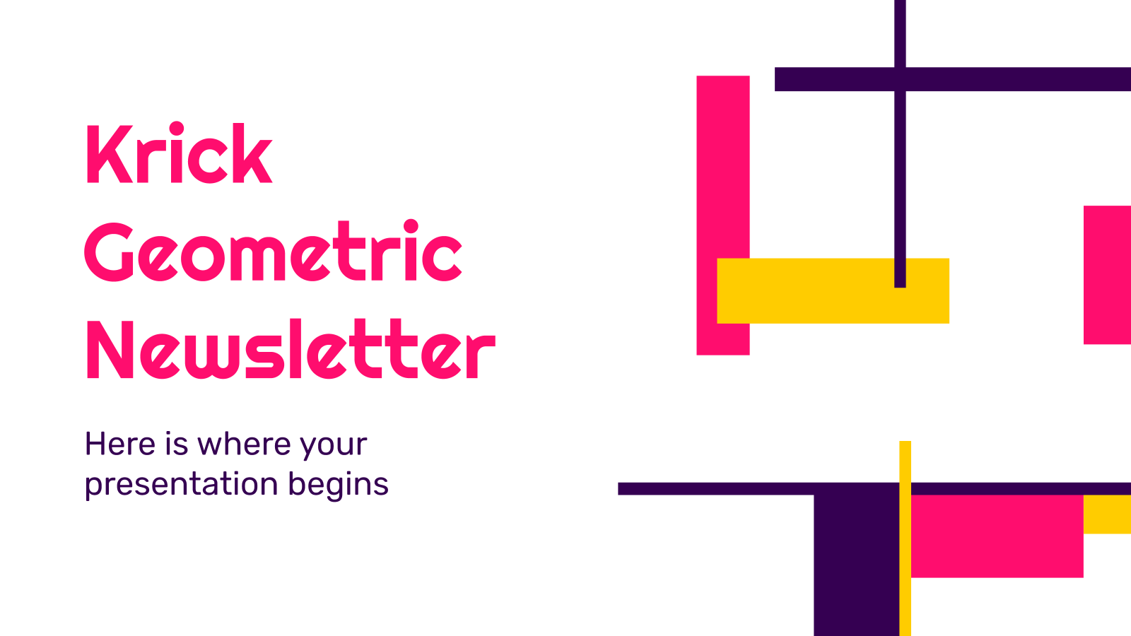Krick Geometric Newsletter presentation template