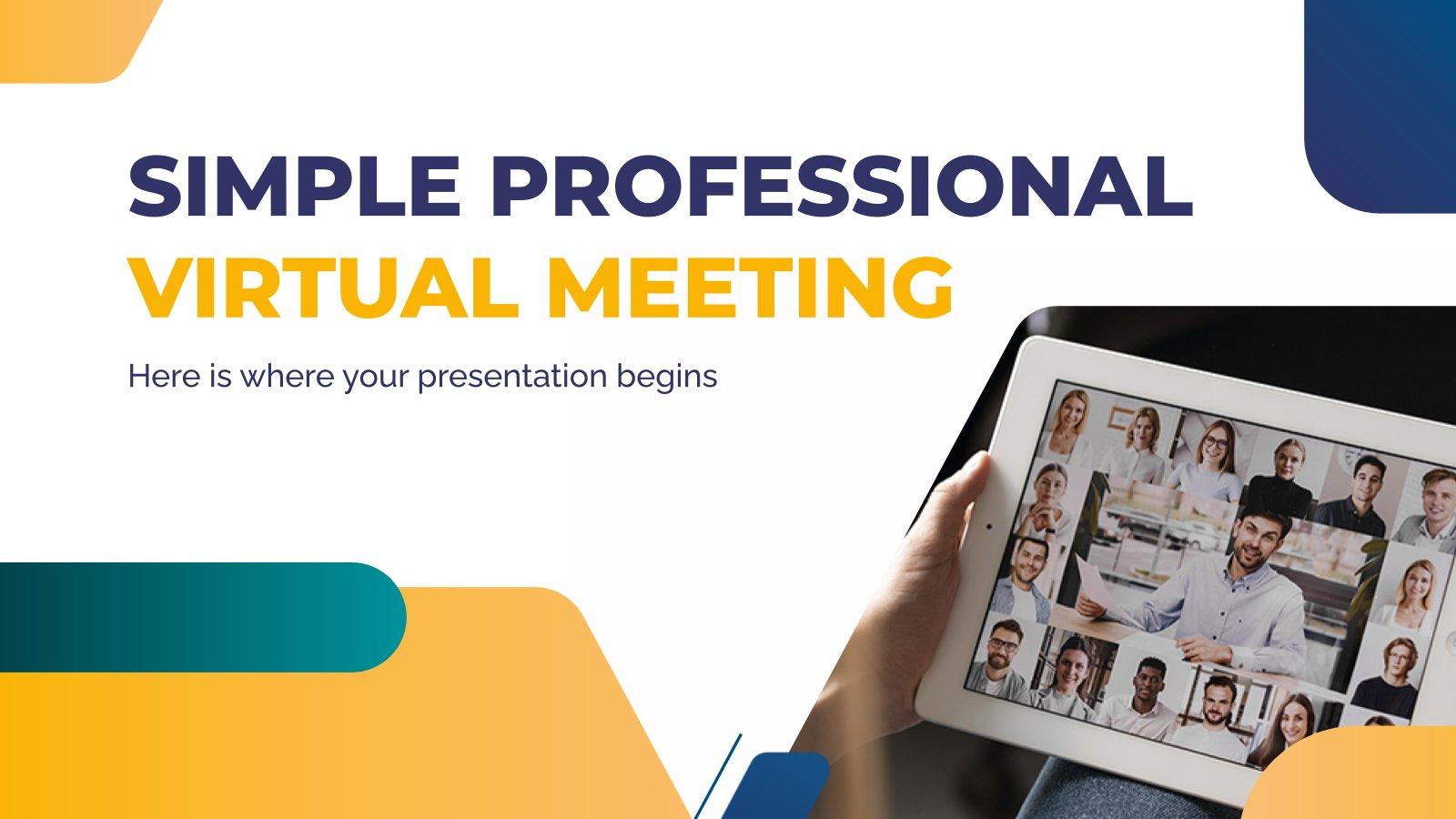 Plantilla de presentación Reunión online simple y profesional