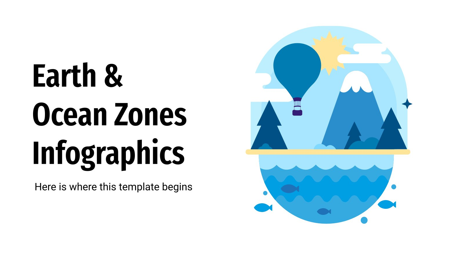 Earth & Ocean Zones Infographics presentation template