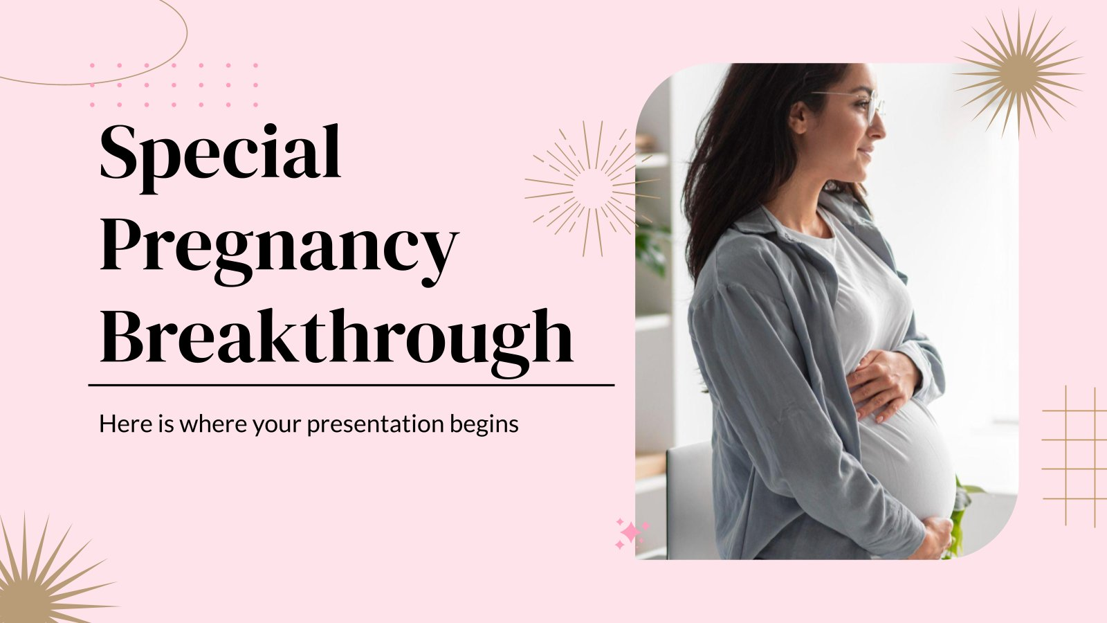 Besonderer Durchbruch in der Schwangerschaft Präsentationsvorlage
