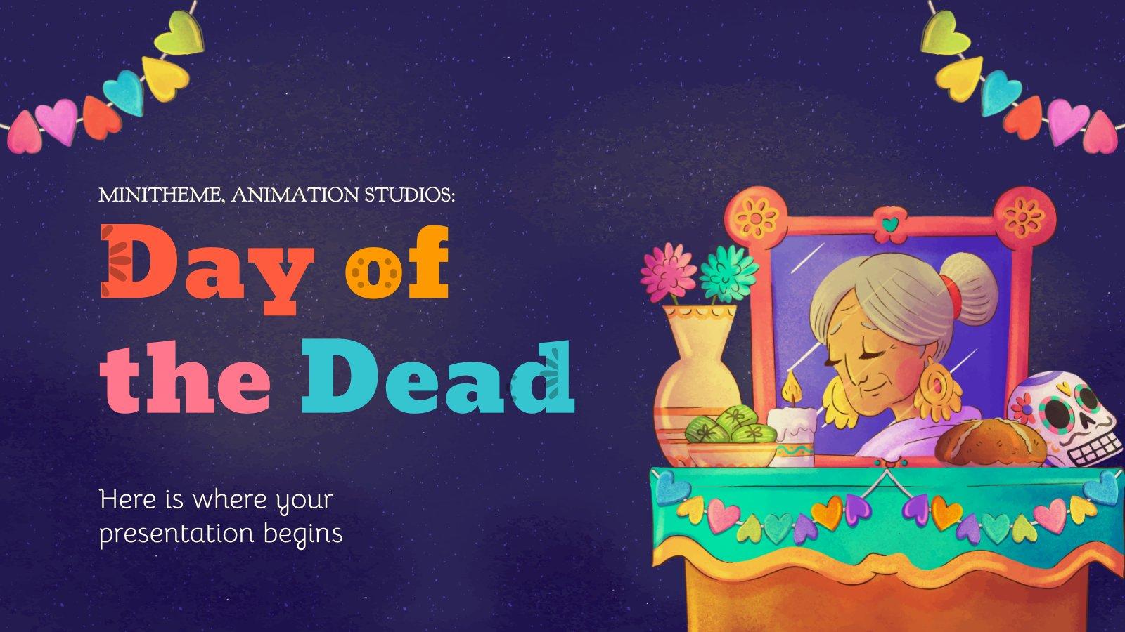 Plantilla de presentación Estudios de animación: Minitema del Día de Muertos