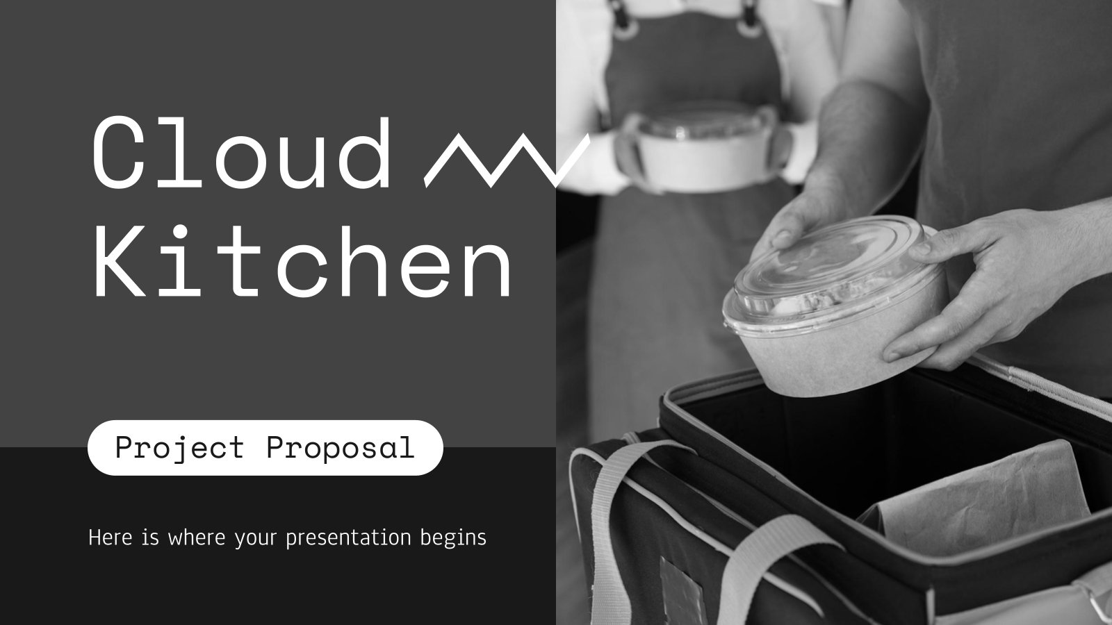 Plantilla de presentación Propuesta de proyecto: cocina en la nube