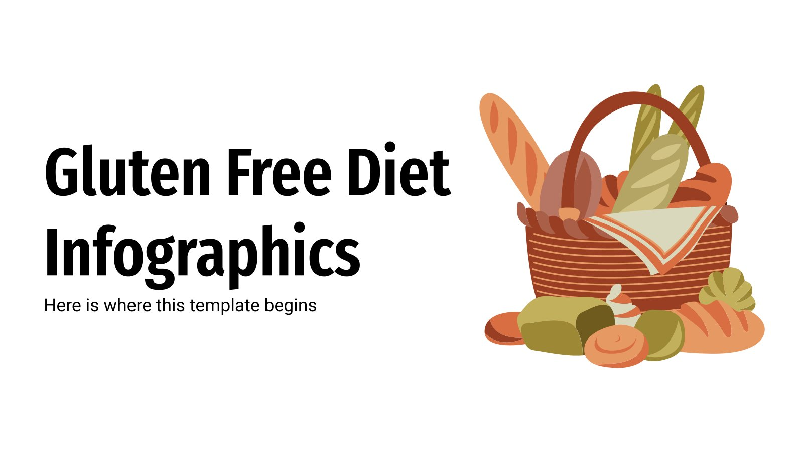 Gluten Free Diet Infographics presentation template