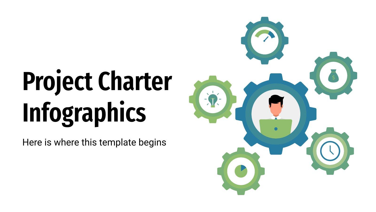 Projektauftrag Infografiken Präsentationsvorlage