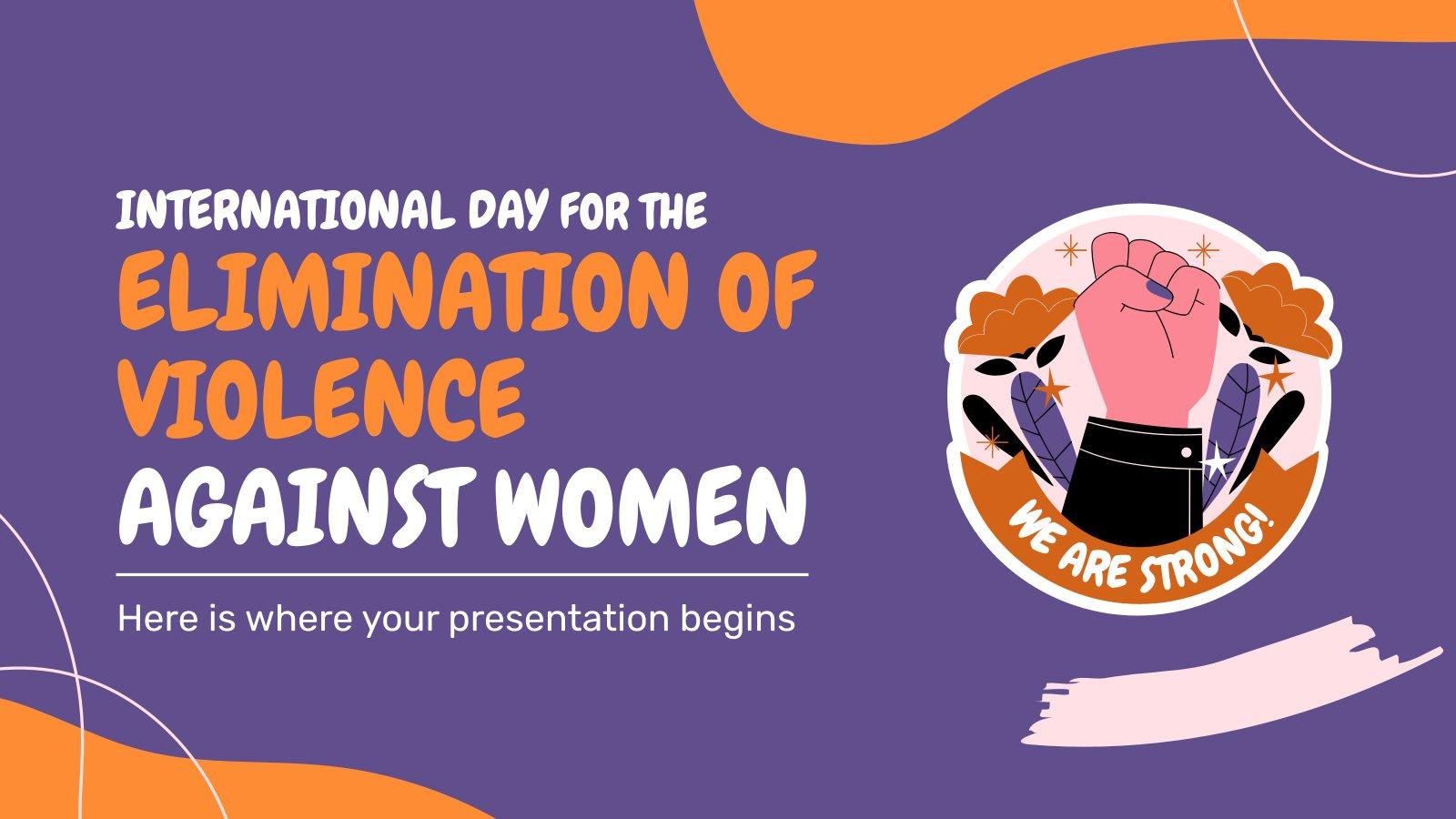 Modelo de apresentação Dia Internacional pela Eliminação da Violência contra a Mulher