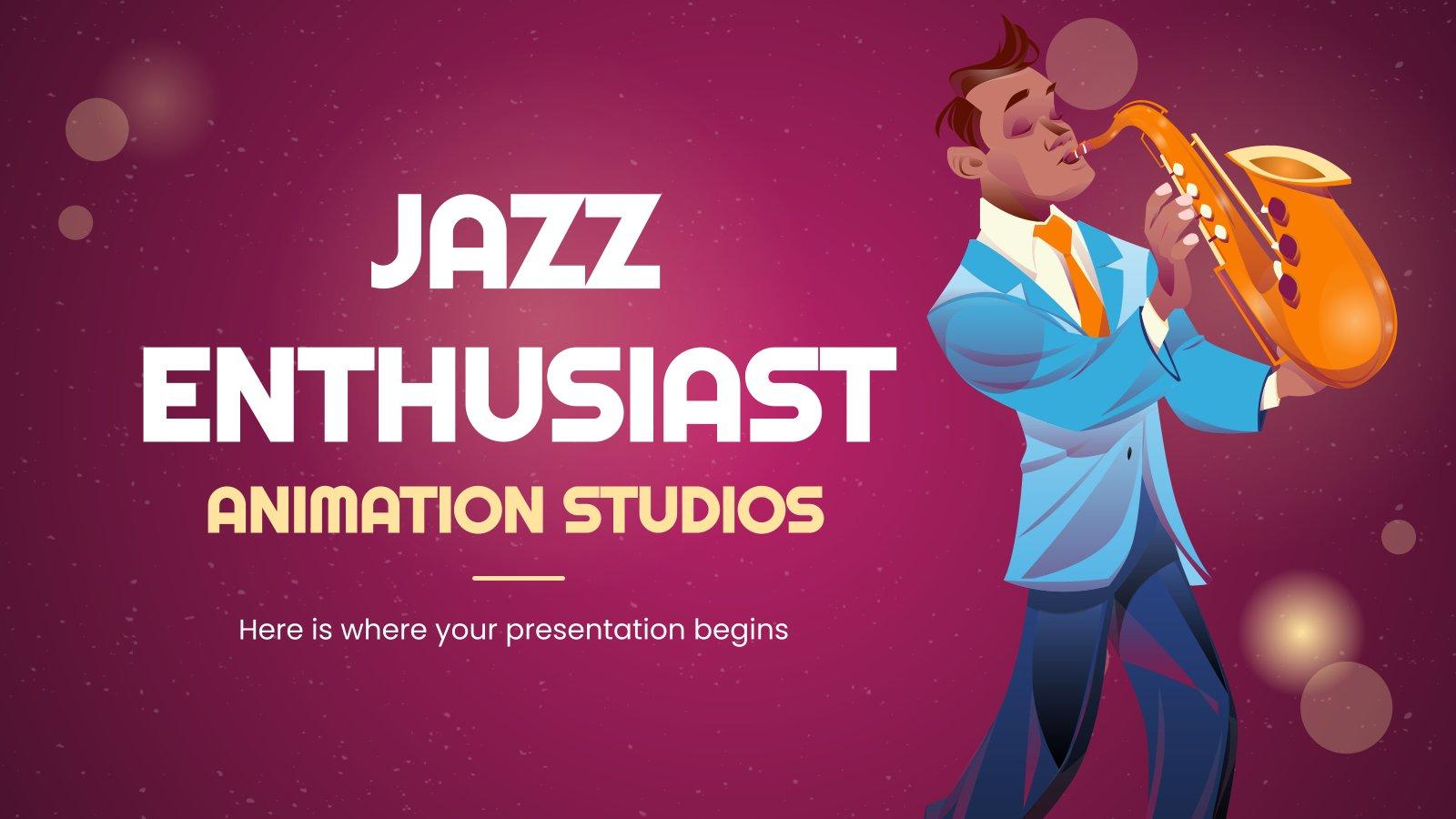 Animation Studios Jazz Enthusiast MK Minitheme presentation template