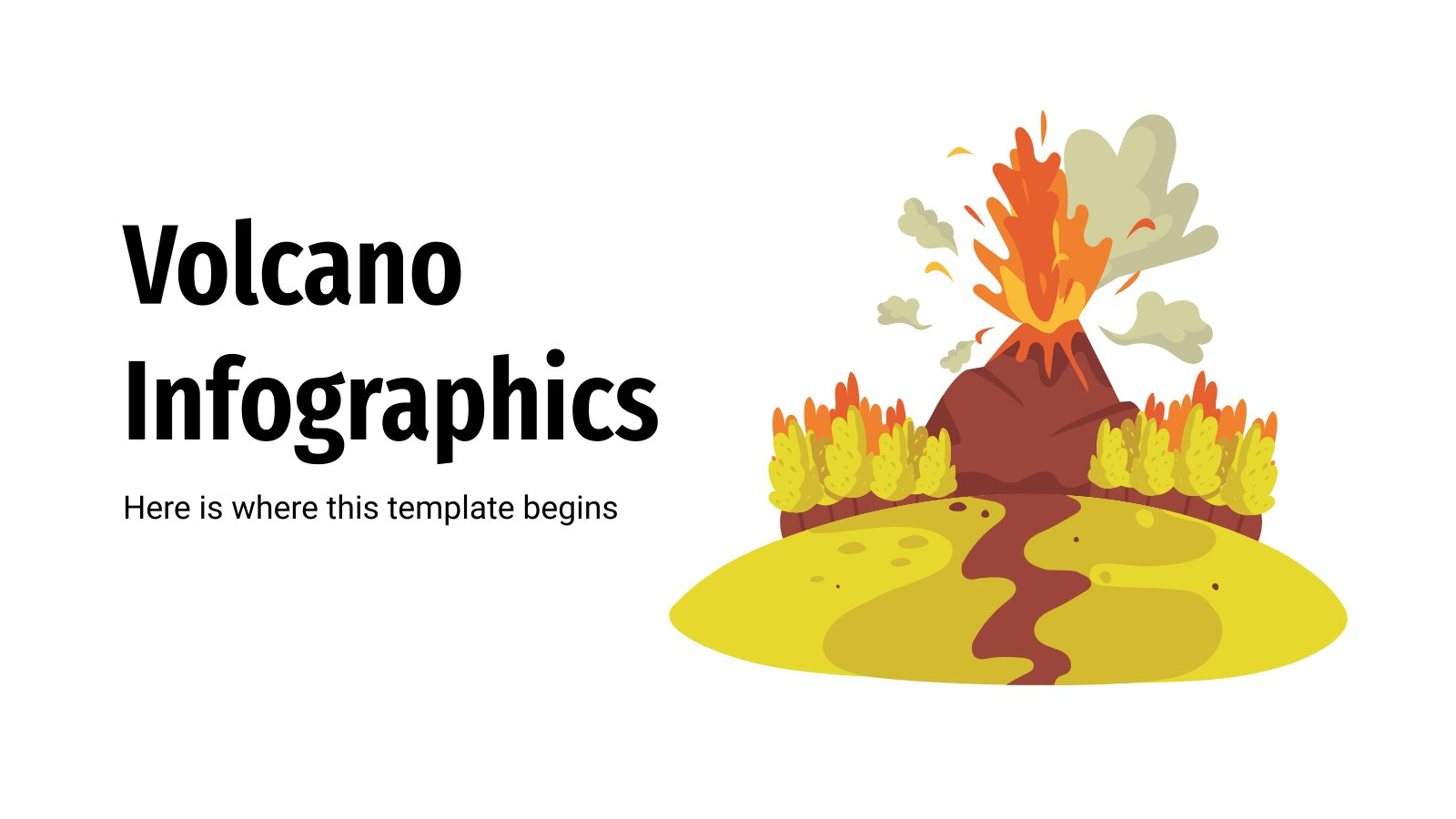 Volcano Infographics presentation template