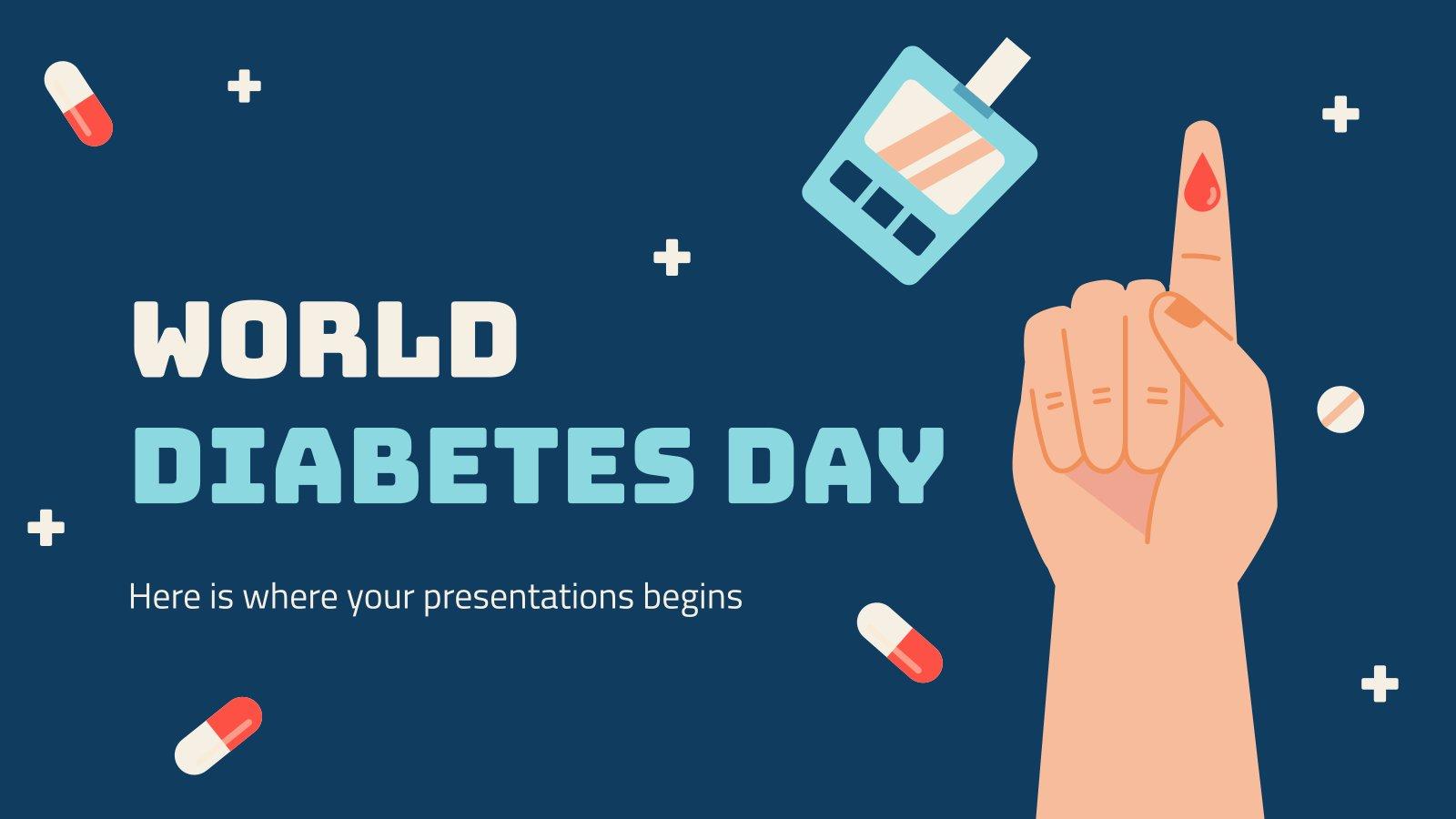 Modelo de apresentação Dia Mundial das Diabetes