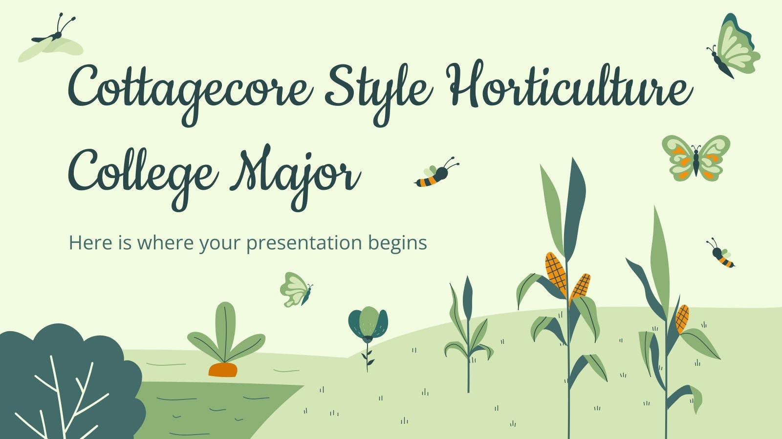 Modelo de apresentação Diploma de horticultura em estilo Cottagecore