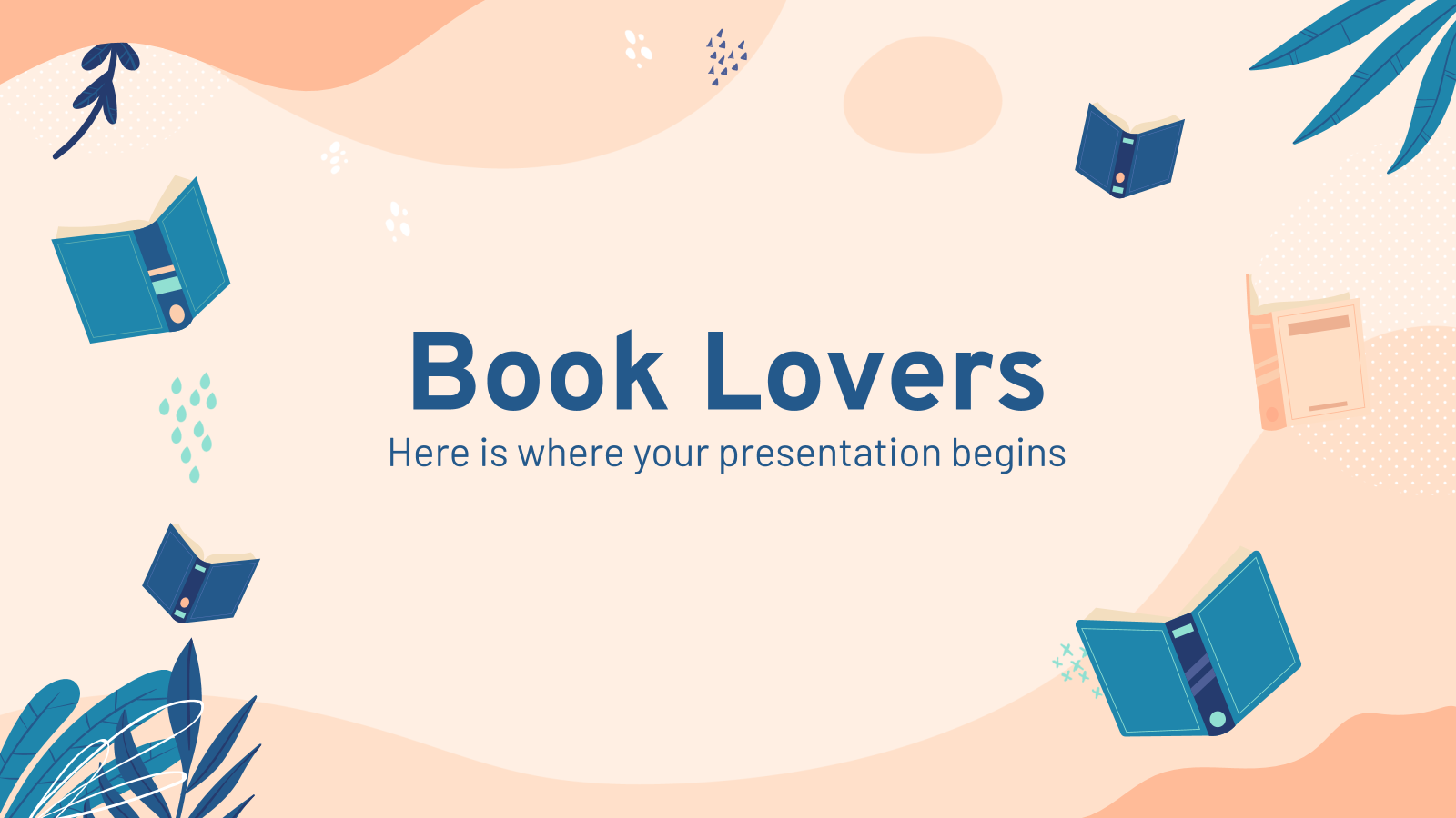 Book Lovers presentation template