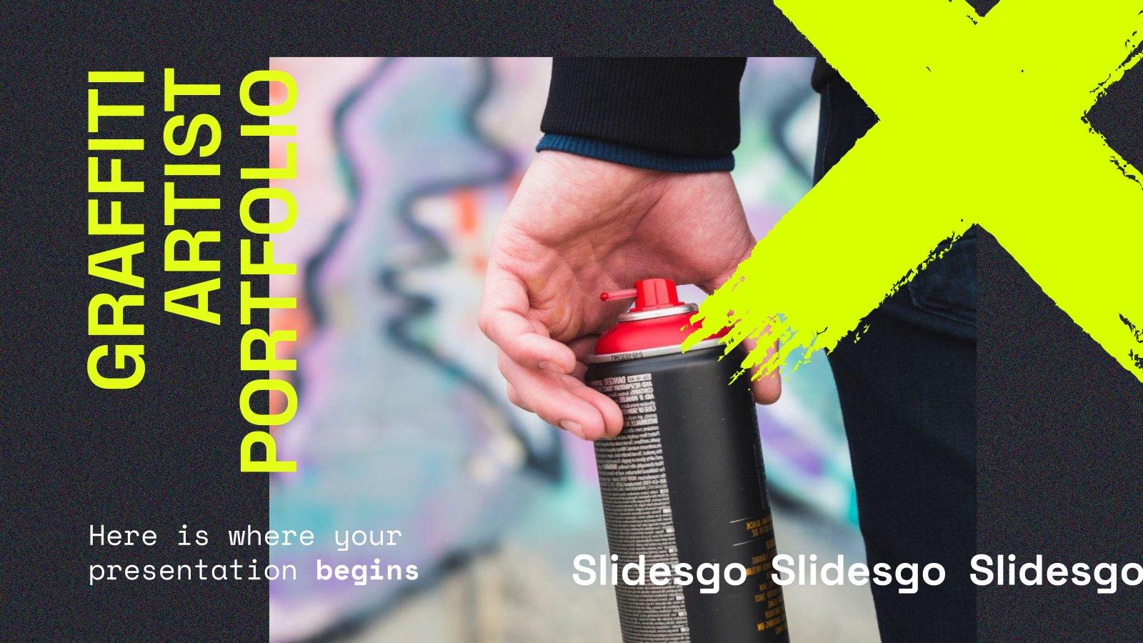 Graffiti Artist Portfolio presentation template
