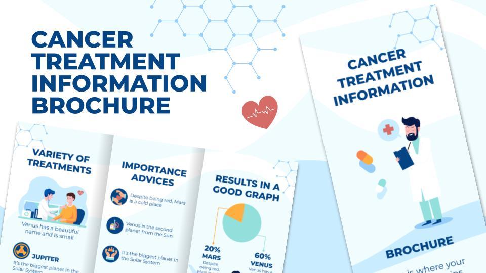 Brochure d'information sur le traitement du cancer : Modèles de présentation