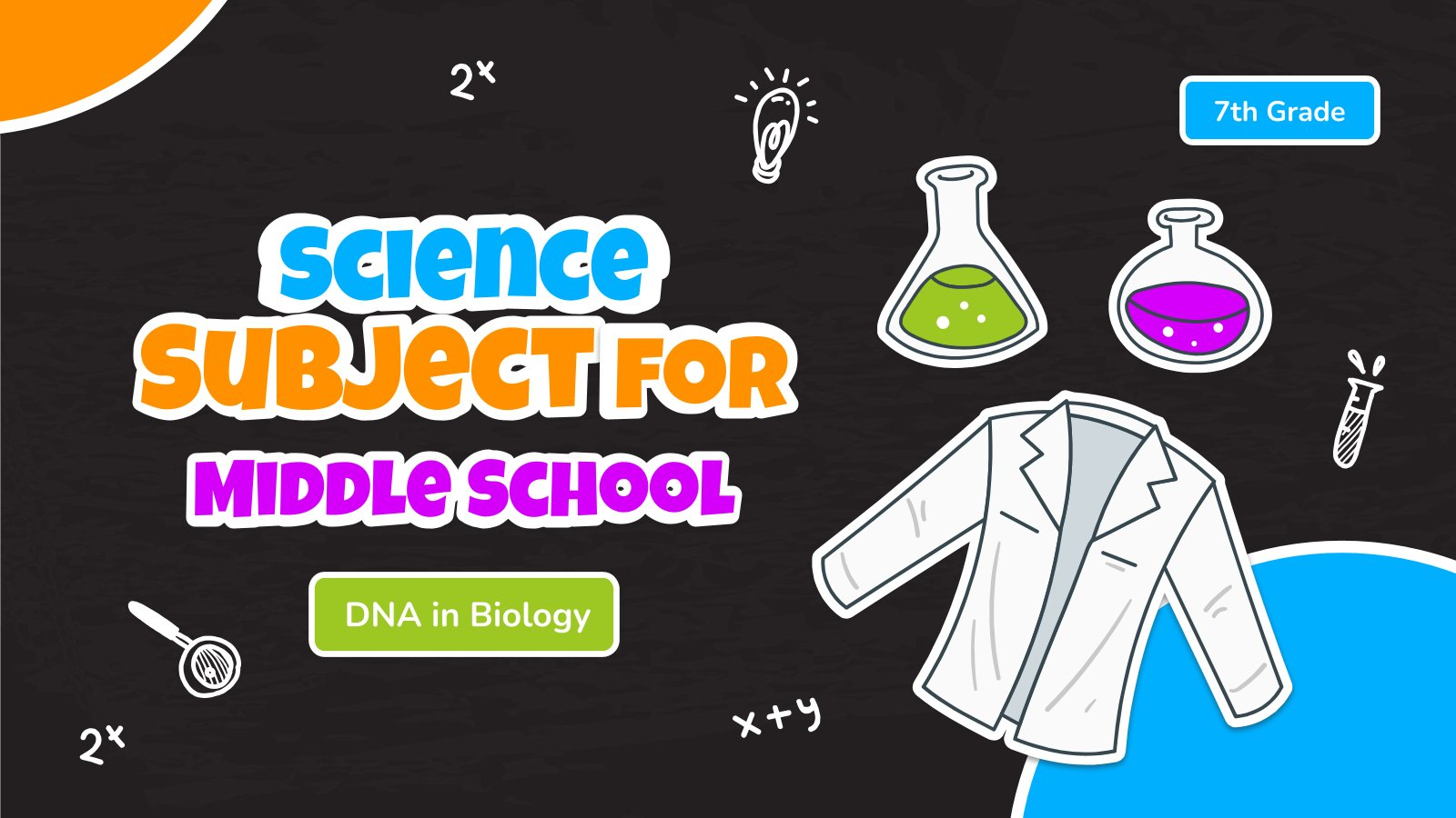 Science Subject for Middle School - 7th Grade: DNA in Biology presentation template