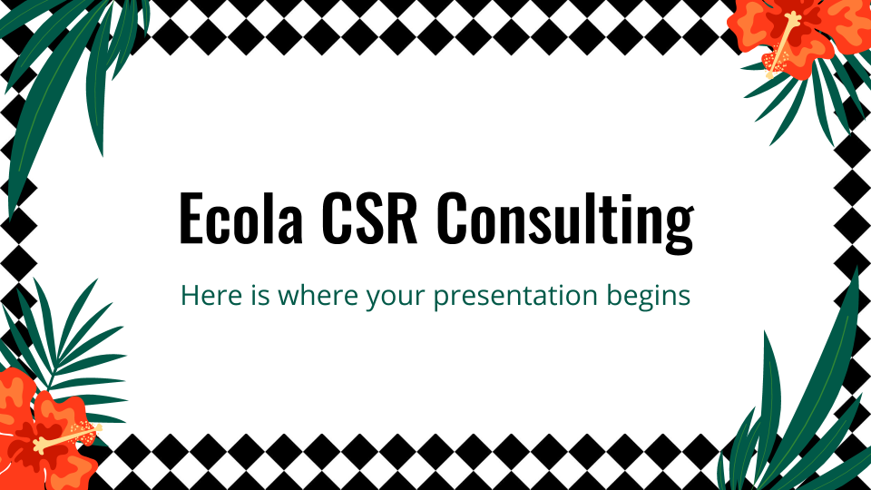 Ecola CSR Consulting presentation template