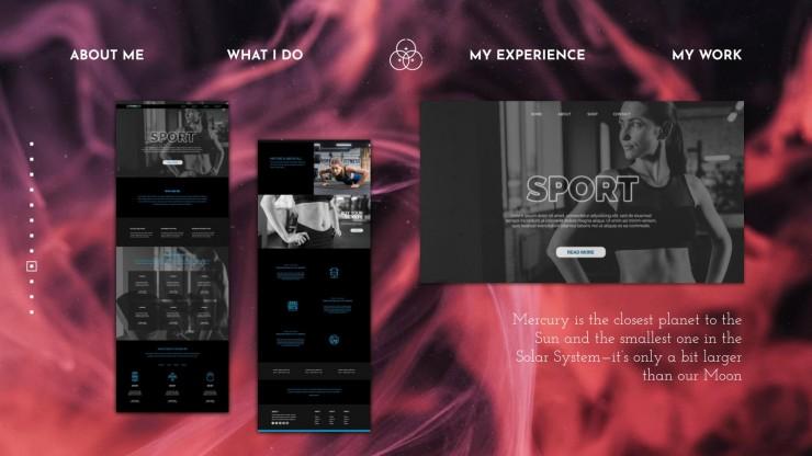 Web-Designer Portfolio Präsentationsvorlage