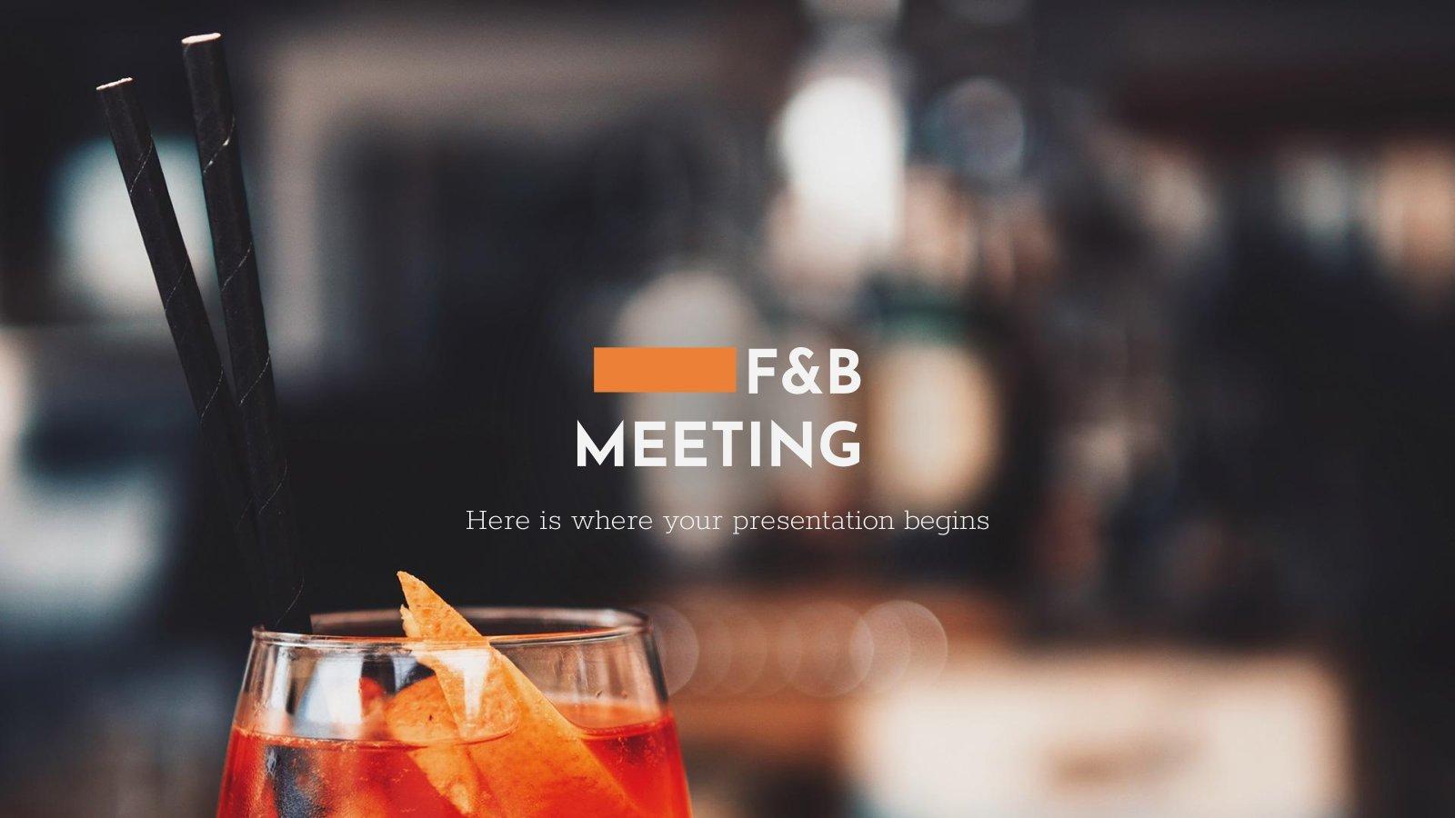 Réunion sur l'alimentation et les boissons : Modèles de présentation