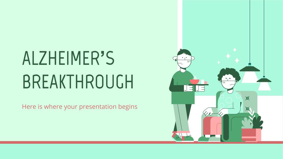 Percée concernant l'Alzheimer : Modèles de présentation