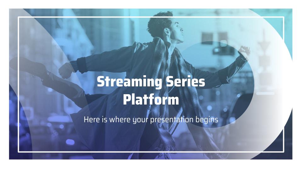 Plantilla de presentación Plataforma de streaming