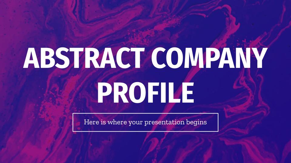 Modelo de apresentação Perfil abstrato de empresa