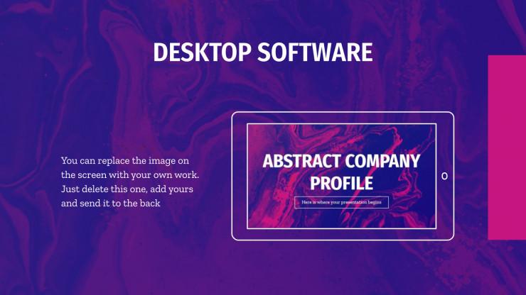 Plantilla de presentación Diseño abstracto para empresas