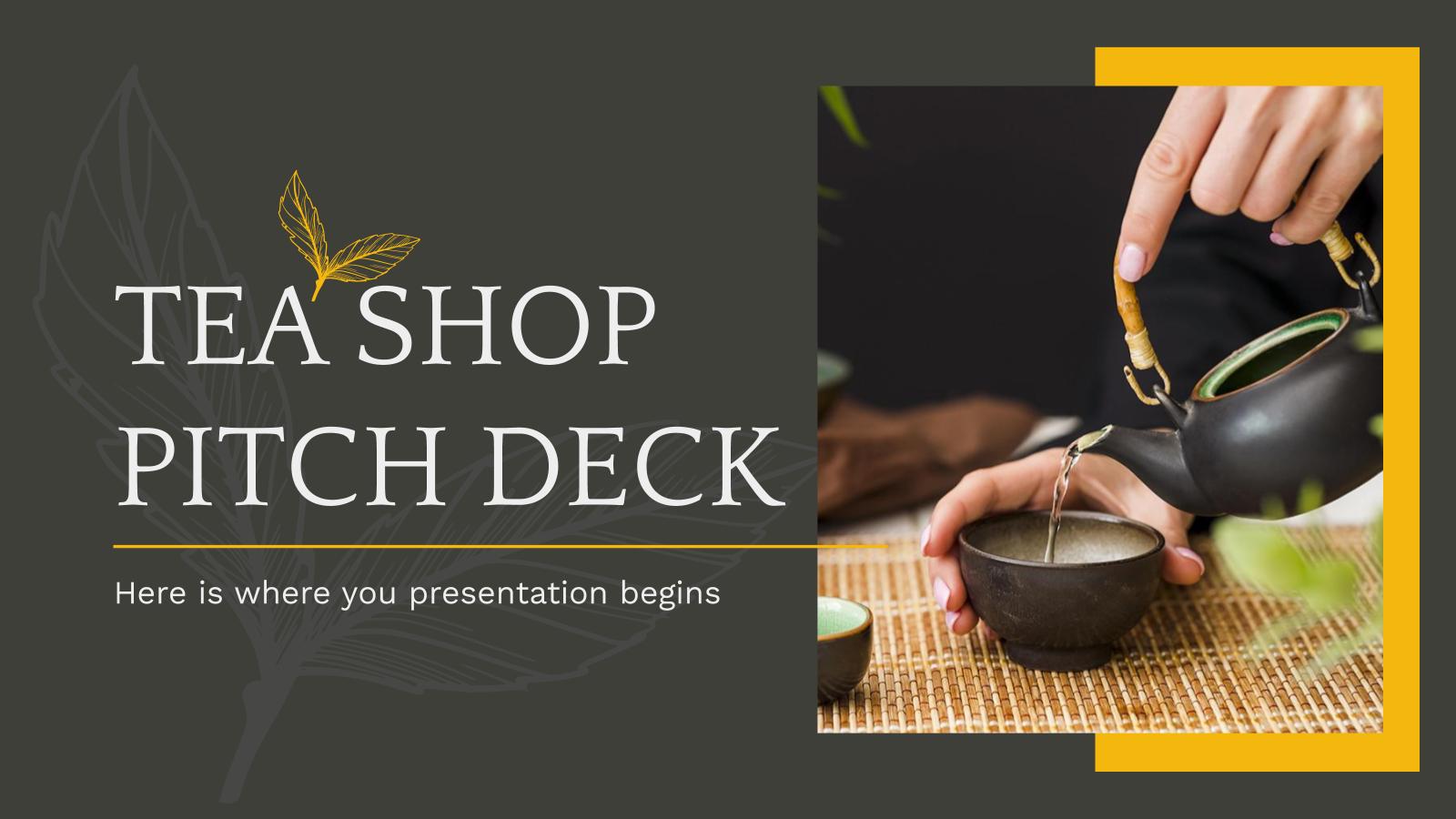 Plantilla de presentación Pitch deck para teterías