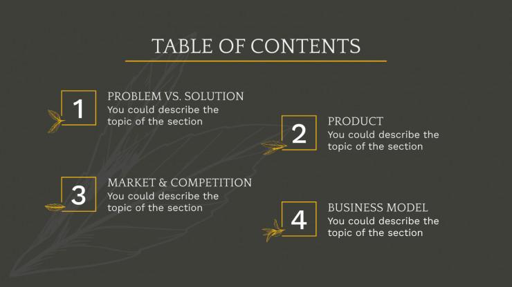 Tea Shop Pitch Deck presentation template