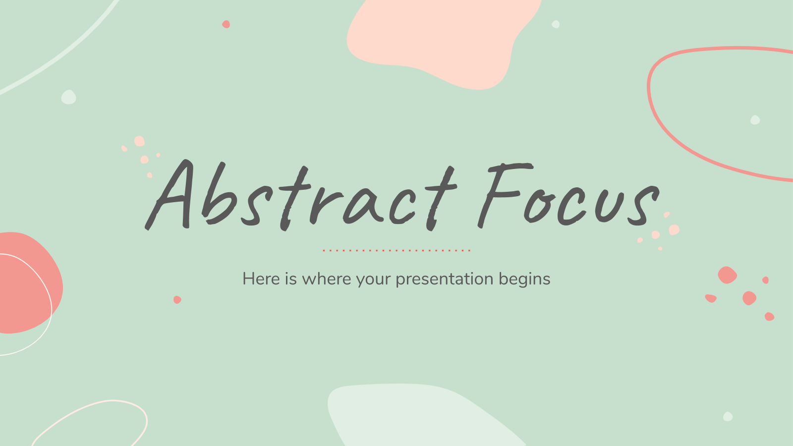 Plantilla de presentación Versatilidad abstracta