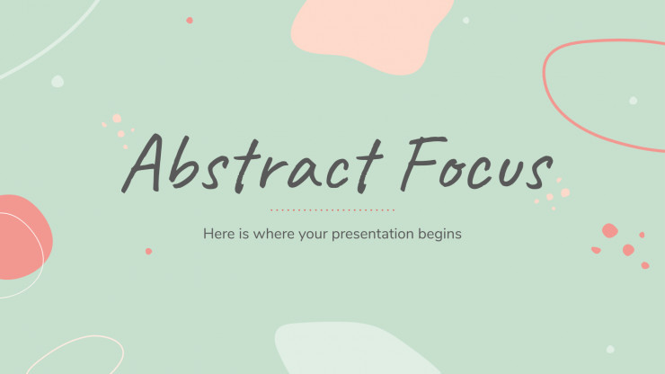 Abstract Focus presentation template