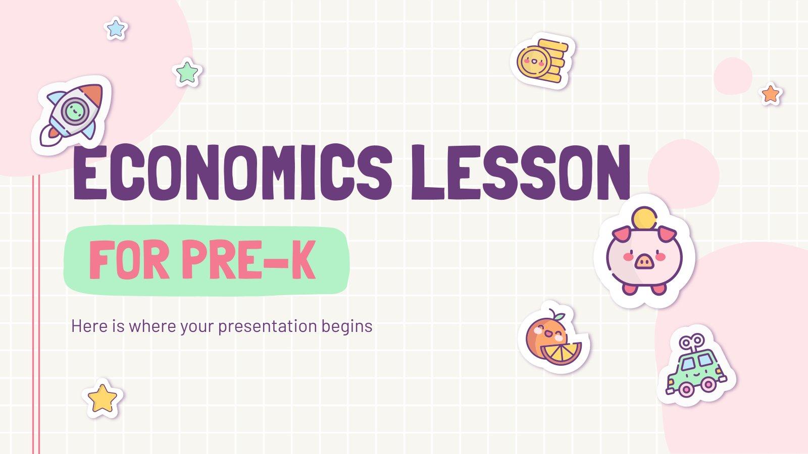 Economics Lesson for Pre-K presentation template