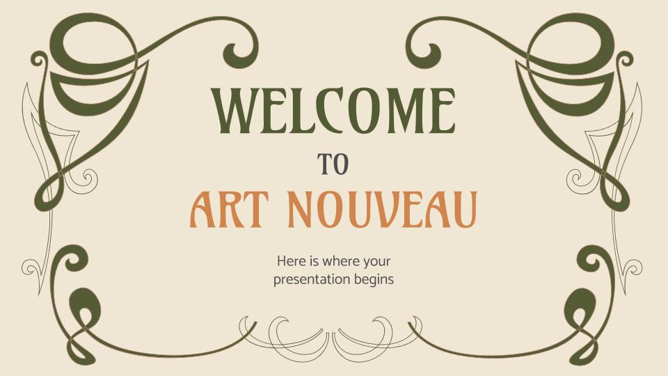 Plantilla de presentación Esto es el art nouveau
