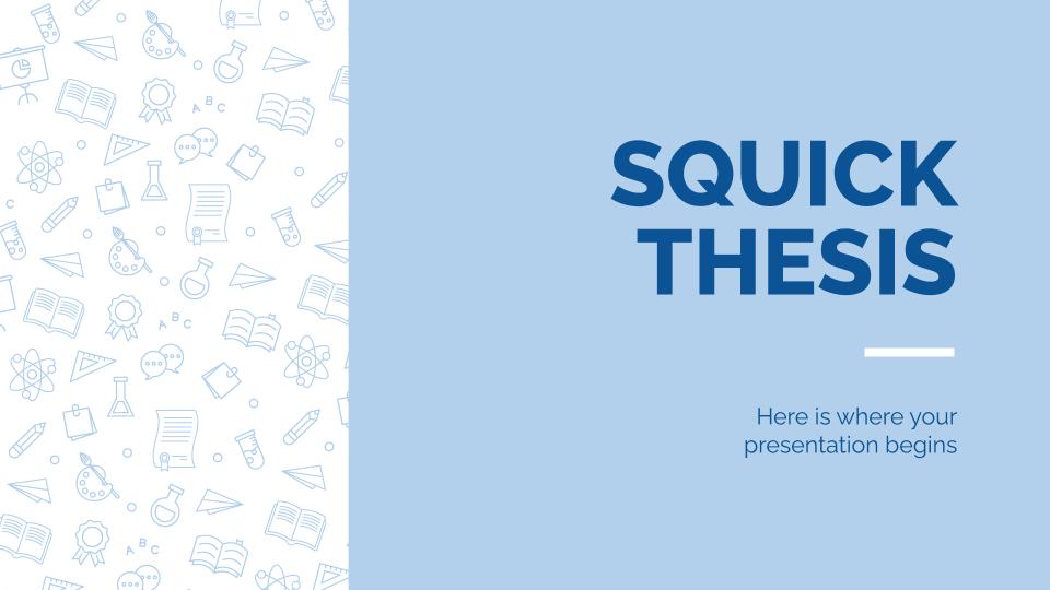 Thèse Squick : Modèles de présentation